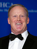 Sean Spicer arrives for the 2018 White House Correspondents Association Annual Dinner at the Washington Hilton Hotel on Saturday, April 28, 2018.<br /> Credit: Ron Sachs / CNP<br /> <br /> (RESTRICTION: NO New York or New Jersey Newspapers or newspapers within a 75 mile radius of New York City)