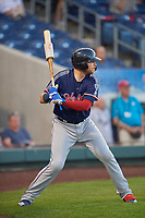 Jett Bandy (28) of the Nashville Sounds on deck against the Reno Aces at Greater Nevada Field on June 5, 2019 in Reno, Nevada. The Aces defeated the Sounds 3-2. (Stephen Smith/Four Seam Images)