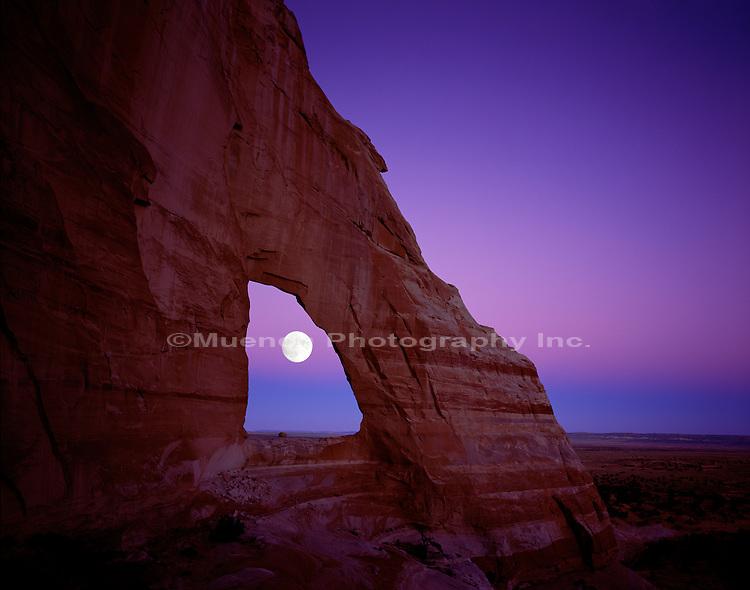 White Mesa Arch, Moon