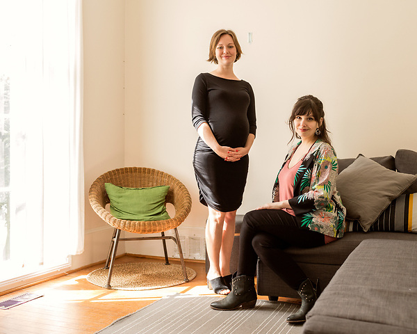 April 7, 2017. Durham, North Carolina.<br /> <br /> (from left) Nido owners Tiff Frye and Lis Tyroler.<br /> <br /> Nido is a co-working space which also offers a Montessori preschool on site. Catering to working parents with morning and afternoon preschool shifts, Nido has thrived and is actively looking for a larger space. <br /> <br /> Jeremy M. Lange for The New York TImes