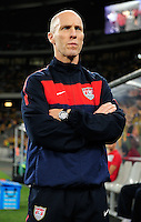 Bob Bradley (head coach) of the USA during the  Soccer match between South Africa and USA played at the Greenpoint in Cape Town South Africa on 17 November 2010.