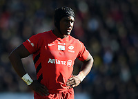 Joel Kpoku of Saracens. Premiership Rugby Cup Final, between Northampton Saints and Saracens on March 17, 2019 at Franklin's Gardens in Northampton, England. Photo by: Patrick Khachfe / JMP