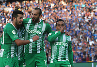 BOGOTÁ - COLOMBIA, 09-03-2019:Vladimir Hernandez jugador del Atlético Nacional  celebra después de anotar un gol a Millonarios durante partido por la fecha 9 de la Liga Águila I 2019 jugado en el estadio Nemesio Camacho El Campín de la ciudad de Bogotá. /Vladimir Hernandez player of Atletico Nacional  celebrates after scoring a goal agaisnt of Millonarios  during the match for the date 9 of the Liga Aguila I 2019 played at the Nemesio Camacho El Campin Stadium in Bogota city. Photo: VizzorImage / Felipe Caicedo / Staff.