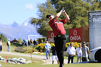 Richard McEvoy (ENG) tees off the 11th tee during Sunday's Final Round 4 of the 2018 Omega European Masters, held at the Golf Club Crans-Sur-Sierre, Crans Montana, Switzerland. 9th September 2018.<br /> Picture: Eoin Clarke | Golffile<br /> <br /> <br /> All photos usage must carry mandatory copyright credit (&copy; Golffile | Eoin Clarke)