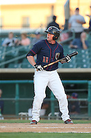Marc Wik (11) of the Lancaster JetHawks bats during a game against the Visalia Rawhide at The Hanger on June 16, 2015 in Lancaster, California. Lancaster defeated Visalia, 11-3. (Larry Goren/Four Seam Images)