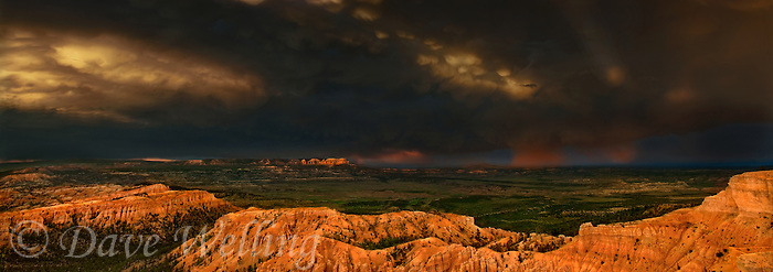 904000031 panoramic view of a rainbow and stunning clouds during a monsoon summer thunderstorm in bryce canyon national park utah united states