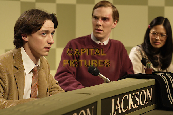 James McAvoy, Benedict Cumberbatch & Elaine Tan.in Starter for Ten   .*Filmstill - Editorial Use Only*.CAP/PLF.Supplied by Capital Pictures.