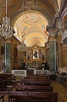 Europe/France/Provence-Alpes-Côte d'Azur/06/Alpes-Maritimes/Èze-Village: Intérieur de l'église de style baroque