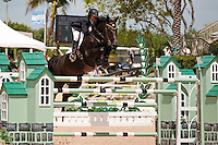 Scarface ridden by Nick Dello Joio, USEF trials#2 Wellington Florida. 3-22-2012
