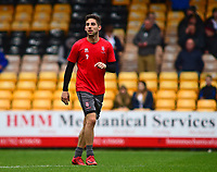 Lincoln City's Tom Pett during the pre-match warm-up<br /> <br /> Photographer Andrew Vaughan/CameraSport<br /> <br /> The EFL Sky Bet League Two - Port Vale v Lincoln City - Saturday 13th October 2018 - Vale Park - Burslem<br /> <br /> World Copyright © 2018 CameraSport. All rights reserved. 43 Linden Ave. Countesthorpe. Leicester. England. LE8 5PG - Tel: +44 (0) 116 277 4147 - admin@camerasport.com - www.camerasport.com