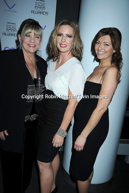 Kim Zimmer, Martha Byrne and Anne Sayre attending The 2nd Annual Indie Soap Awards on February 21, 2011 at The Alvin Ailey Studios in  New York City sponsored by We Love Soaps.