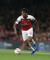 Arsenal's Alex Iwobi<br /> <br /> Photographer Rob Newell/CameraSport<br /> <br /> UEFA Europa League Group E - Arsenal v Sporting CP - Thursday 8th November 2018 - Arsenal Stadium - London<br />  <br /> World Copyright © 2018 CameraSport. All rights reserved. 43 Linden Ave. Countesthorpe. Leicester. England. LE8 5PG - Tel: +44 (0) 116 277 4147 - admin@camerasport.com - www.camerasport.com