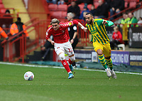 Conor Gallagher of Charlton Athletic and Matt Phillips of West Bromwich Albion during Charlton Athletic vs West Bromwich Albion, Sky Bet EFL Championship Football at The Valley on 11th January 2020