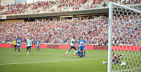 Sandy, Utah - June 18, 2013: Jozy Altidore scores against Honduras during a WC Qualifying match.