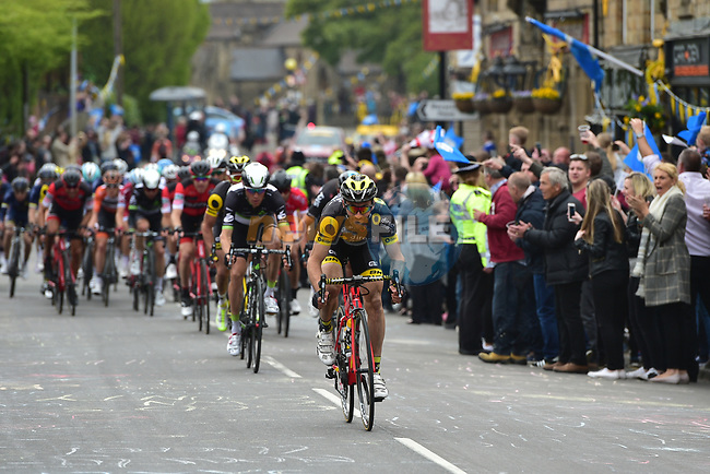 Jonathan Hivert (FRA) Direct Energie on front of the peloton during Stage 3 of the Tour de Yorkshire 2017 running 194.5km from Bradford/Fox Valley to Sheffield, England. 30th April 2017. <br /> Picture: ASO/P.Ballet | Cyclefile<br /> <br /> <br /> All photos usage must carry mandatory copyright credit (&copy; Cyclefile | ASO/P.Ballet)