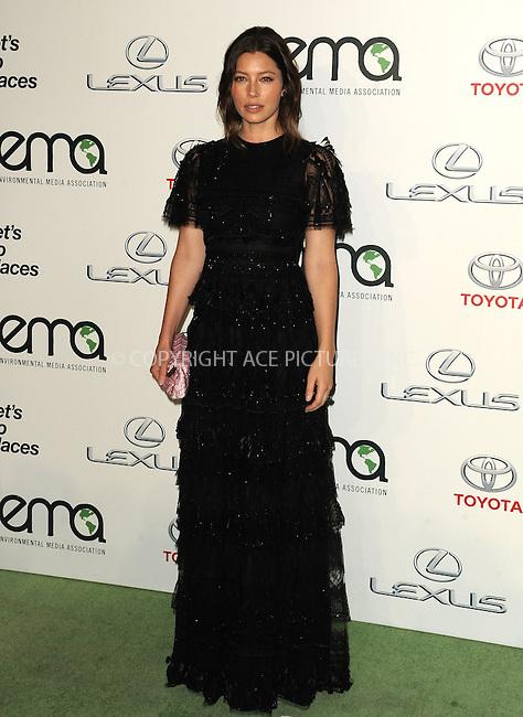 WWW.ACEPIXS.COM<br /> <br /> October 24 2015, LA<br /> <br /> Jessica Biel arriving at the 25th Environmental Media Awards at Warner Bros. Studios on October 24, 2015 in Burbank, California<br /> <br /> By Line: Peter West/ACE Pictures<br /> <br /> <br /> ACE Pictures, Inc.<br /> tel: 646 769 0430<br /> Email: info@acepixs.com<br /> www.acepixs.com