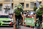 Euskadi-Murias recon Stage 1 of La Vuelta 2019, a team time trial running 13.4km from Salinas de Torrevieja to Torrevieja, Spain. 24th August 2019.<br /> Picture: Eoin Clarke | Cyclefile<br /> <br /> All photos usage must carry mandatory copyright credit (© Cyclefile | Eoin Clarke)