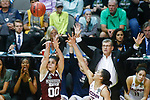 DALLAS, TX - MARCH 31: Dominique Dillingham #00 of the Mississippi State Lady Bulldogs attempts a three-point shot during the 2017 Women's Final Four at American Airlines Center on March 31, 2017 in Dallas, Texas. (Photo by Tim Nwachukwu/NCAA Photos via Getty Images)
