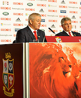 Lions 2013. British & Irish Lions 2013 Head Coach Warren Gatland and British & Irish Lions 2013 Tour Manager  Andy Irvine during The 2013 British & Irish Lions Head Coach Press conference held at  Ironmonger's Hall, Shaftesbury Place, London, England on 4th September 2012