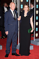 Sir Patrick Stewart and Sunny Ozell<br /> arriving for the BAFTA Film Awards 2018 at the Royal Albert Hall, London<br /> <br /> <br /> ©Ash Knotek  D3381  18/02/2018