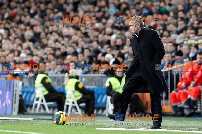 Jose Mourinho during La Liga Match. December 01, 2012. (ALTERPHOTOS/Caro Marin) .Madrid 1/12/2012.Football Calcio 2012/2013 La Liga.Real Madrid Vs Atletico Madrid.Foto Alterphotos / Insidefoto.ITALY ONLY