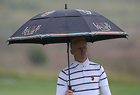 New clothing design and umbrella for Simon Dyson (ENG) during the Final Round of The Tshwane Open 2014 at the Els (Copperleaf) Golf Club, City of Tshwane, Pretoria, South Africa. Picture:  David Lloyd / www.golffile.ie