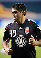 D.C. United's Jaime MOreno during pre-game warm-ups. D.C. United lost 2-0 to the visiting San Jose Earthquakes at RFK Stadium in Washington D.C.