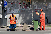 Municipal street cleaners,  Tbilisi, Georgia.