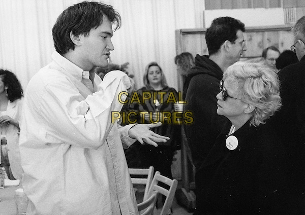 Quentin Tarantino (Director) &amp; Ronna Wallace (Producer)<br /> on the set of Reservoir Dogs (1992) <br /> *Filmstill - Editorial Use Only*<br /> CAP/NFS<br /> Please credit: Courtesy of Sundance Institute/Capital Pictures