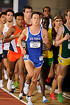 12 MAR 2016:  Patrick Corona of the United States Air Force Academy runs the 3000m Run during the Division I Men's Indoor Track & Field Championship held at the Birmingham Crossplex in Birmingham, Al. Tom Ewart/NCAA Photos