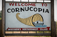 Welcome to Cornucopia Wisconsin Sign