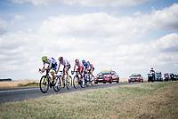 breakaway group with Stéphane Rossetto (FRA/Cofidis), Tim Wellens (BEL/Lotto-Soudal), Paul Ourselin (FRA/Total - Direct Energie), Yoann Offredo (FRA/Wanty-Gobert) & Anthony Delaplace (FRA/Arkéa - Samsic)<br /> <br /> Stage 3: Binche (BEL) to Épernay (FRA)(214km)<br /> 106th Tour de France 2019 (2.UWT)<br /> <br /> ©kramon