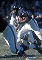 Chicago Bears Gale Sayers (40) in action during a game against the Cleveland Browns on November 30, 1969 at Wrigley Field in Chicago, Illinois.  The Browns beat the Bears 28-24. Gale Sayers  was inducted to the Pro Football Hall of Fame in 1977.