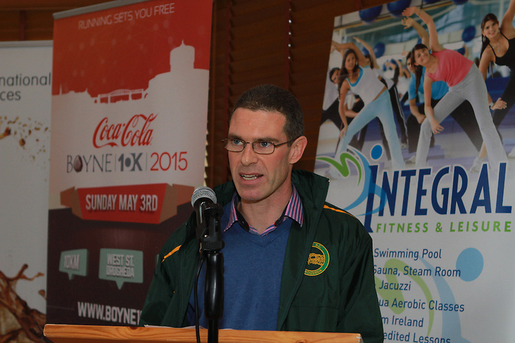 Liam Cooney of Boyne AC at the Launch of the Boyne 10km in the Gary Kelly Centre.
