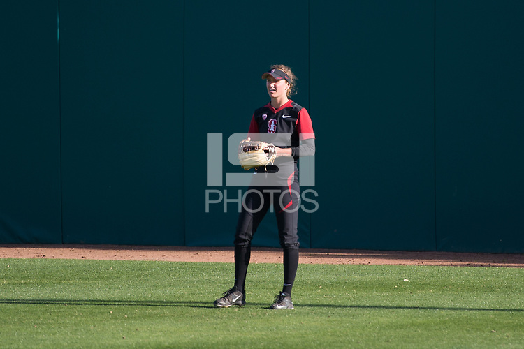 Stanford, CA, April 14, 2017: Stanford Women's Softball vs. Arizona State University at Smith Family Stadium. Stanford lost to ASU 9-1.