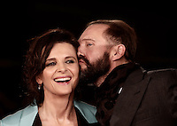 British actor Ralph Fiennes kisses French actress Juliette Binoche on the red carpet for a special screening of the movie &quot;The English Patient&quot; during the international Rome Film Festival at Rome's Auditorium, 22 October 2016. The Film Festival celebrates one of the most beloved of Cinema History 'The English Patient' by Anthony Minghella, released twenty years ago (in 1996). <br /> UPDATE IMAGES PRESS/Isabella Bonotto