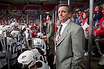 January 5, 2010: Team USA head coach Mark Johnson looks on during an exhibition women's hockey game against the Wisconsin Badgers at the Kohl Center in Madison, Wisconsin on January 5, 2010.   Team USA won 9-0. (Photo by David Stluka)