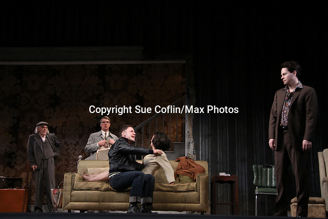 As The World Turns Trent Dawson stars with Jarlath Conroy, Steven Epp, Sebastian Naskaris, Felicity Jones in Harold Pinter's The Homecoming at Centerstage, Baltimore, Maryland. Dress Rehearsal - January 27, 2011. (Photos by Sue Coflin/Max Photos)