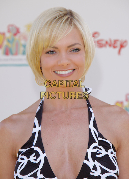 "JAIME PRESSLY.The 20th annual ""A Time for Heroes"" Celebrity Carnival benefiting Elizabeth Glaser Pediatric AIDS Foundation held at Wadsworth Theater on the Veteran Administration Lawn in West Los Angeles, California, USA. .June 7th, 2009.headshot portrait black white pattern halterneck jamie .CAP/DVS                                                  .©Debbie VanStory/Capital Pictures."