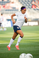 Sydney Leroux (11) of the United States (USA) during warmups. The United States (USA) women defeated China PR (CHN) 4-1 during an international friendly at PPL Park in Chester, PA, on May 27, 2012.