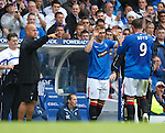 Kevin Thomson makes his league debut after injury as a sub for Kris Boyd