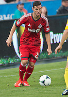 July 27, 2013: Toronto FC midfielder Alvaro Rey #23 in action during an MLS regular season game between the Columbus Crew and Toronto FC at BMO Field in Toronto, Ontario Canada.<br /> Toronto FC won 2-1.