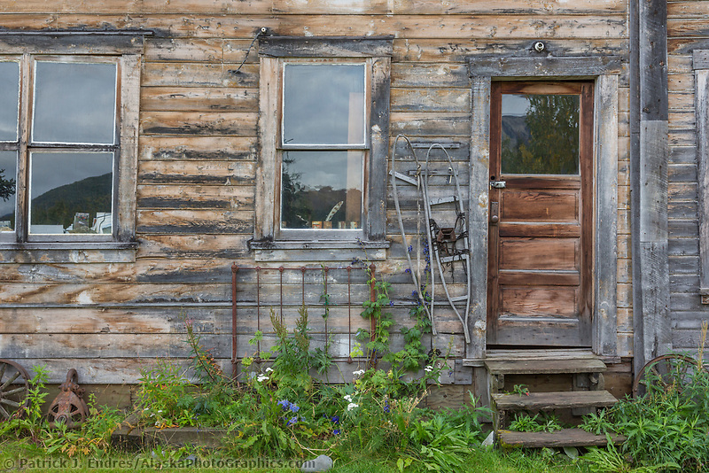 Old houses in the small town of McCarthy, Alaska.