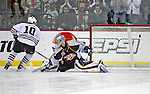 The Nashville Predators host the Chicago Blackhawks in Nashville, Tenn., Sunday Jan 13, 2008. The Blackhawks defeated the Predators 3-2 in a shootout. (AP Photo/Frederick Breedon)