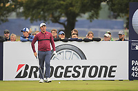 Sam Horsfield (ENG) on the 13th tee during Round 1of the Sky Sports British Masters at Walton Heath Golf Club in Tadworth, Surrey, England on Thursday 11th Oct 2018.<br /> Picture:  Thos Caffrey | Golffile<br /> <br /> All photo usage must carry mandatory copyright credit (© Golffile | Thos Caffrey)
