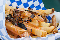 Stinky Pinky fries from Fresh Fries food truck (https://twitter.com/#!/freshfriesla).  Freshly fried potato french fries are slathered in thousand island dressing and then topped with grilled onions.  I could have used more onions, but they were still delicious.  And I love that the dressing is put on in layers, not just poured on top, so all the fries are touched.