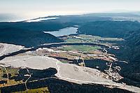 Lake Mapourika and ancient moraine Waiho Loop near Franz Josef Glacier Village, Westland National Park, West Coast, New Zealand