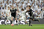 Real Madrid's Luka Modric and AFC Ajax's Frenkie de Jong (L), David Neres during a UEFA Champions League match. Round of 16. Second leg. March, 5,2019. (ALTERPHOTOS/Alconada)