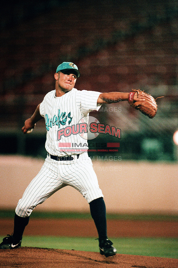 Rick Guttormson of the Rancho Cucamonga Quakes during a California League baseball game at The Epicenter circa 1999 in Rancho Cucamonga,CA. (Larry Goren/Four Seam Images)