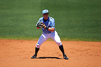 Charlotte Stone Crabs shortstop Alec Sole (23) throws to second during a game against the Palm Beach Cardinals on April 10, 2016 at Charlotte Sports Park in Port Charlotte, Florida.  Palm Beach defeated Charlotte 4-1.  (Mike Janes/Four Seam Images)